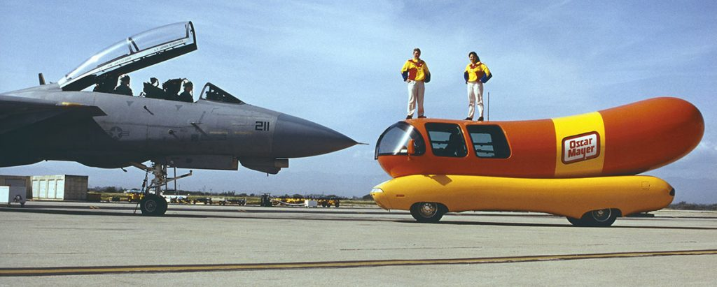 Weinermobile meets the F14